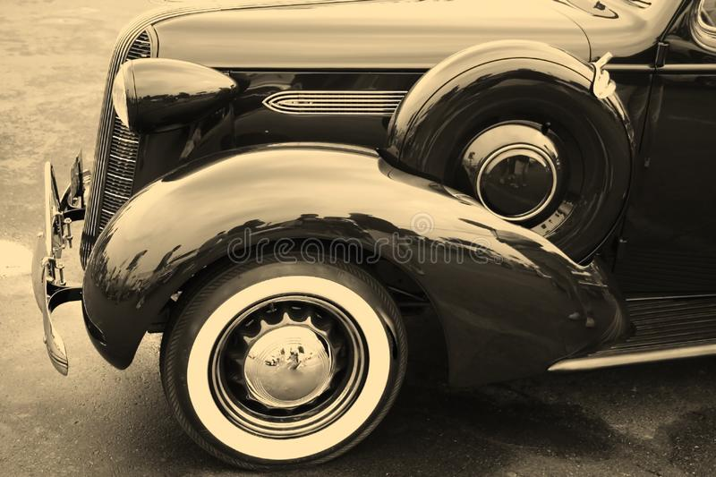 Black classic car royalty free stock photos