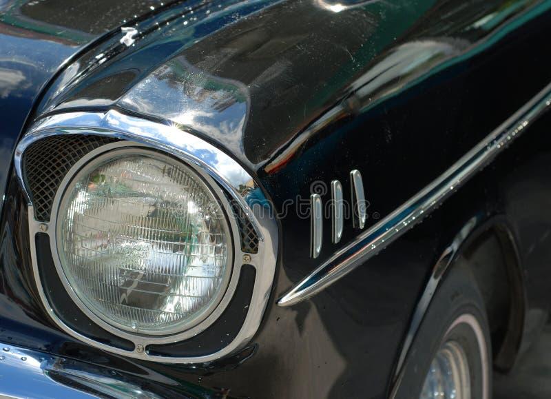 Black Classic Car Headlight stock image