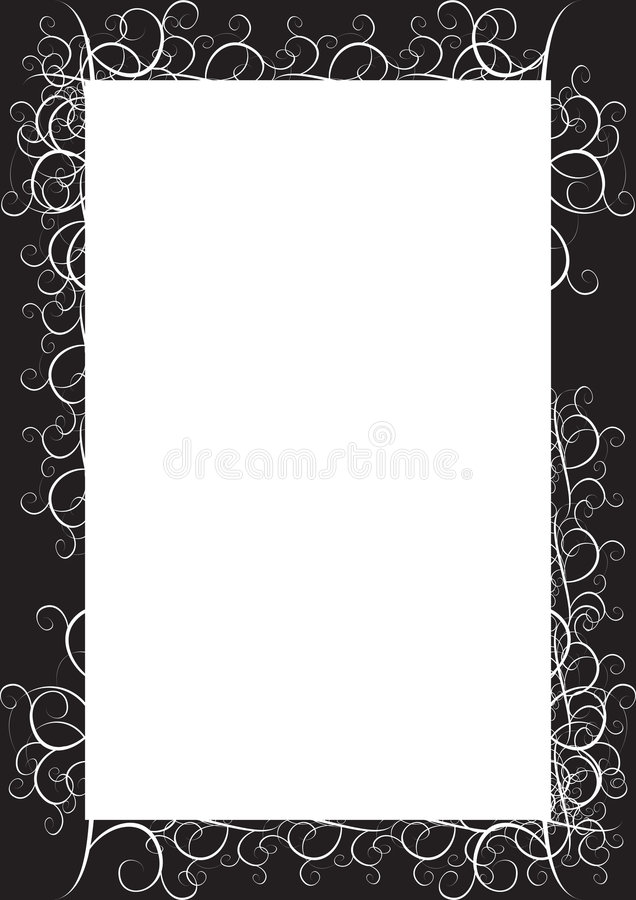 Black classic frame royalty free illustration