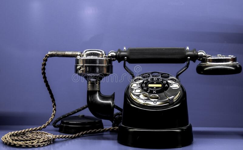 Black Classic Telephone stock photo