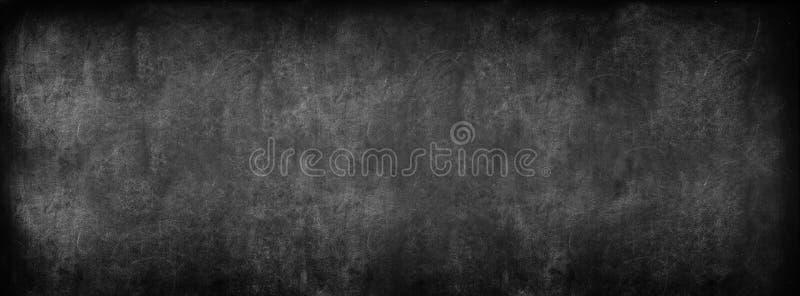 Black Classroom Blackboard Background. School Vintage Texture. Black Classroom Blackboard Background. Chalk Erased School Chalkboard Vintage Texture. Long format