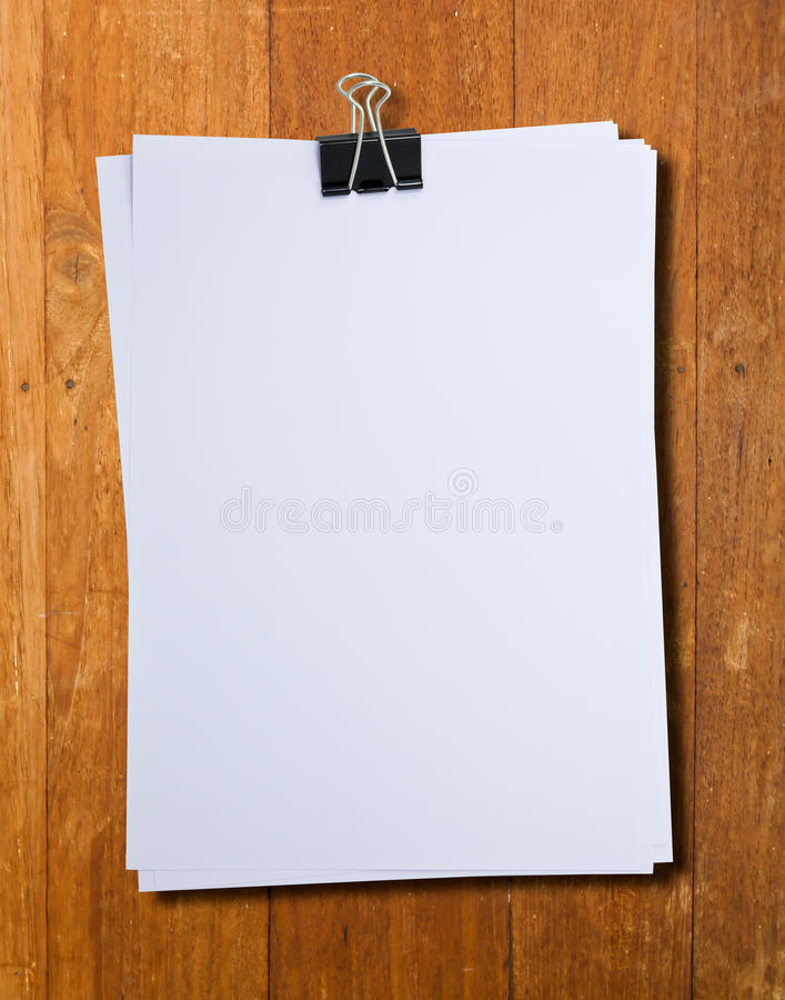Download Black Clip And White Blank Note Paper Stock Image - Image of paper, remember: 39510751