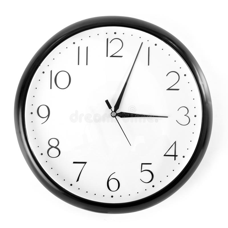 Download Black clock stock photo. Image of single, modern, circle - 15459278