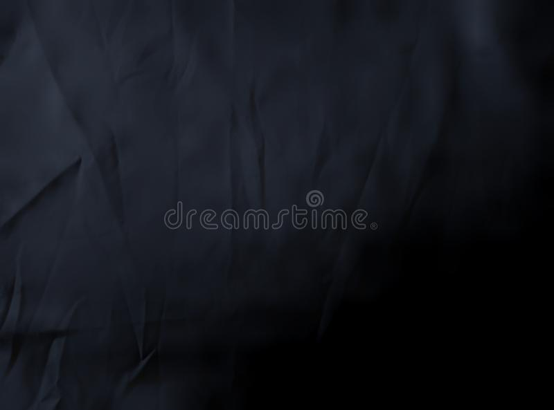 Black cloth texture background.  Tangled viscose fabric surface royalty free stock photo