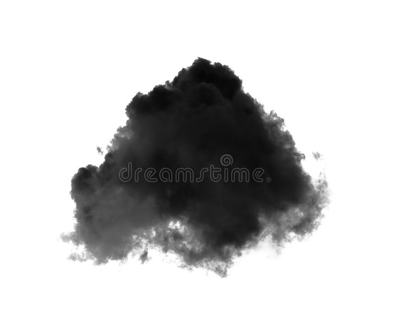 Black cloud or smoke on white royalty free stock images