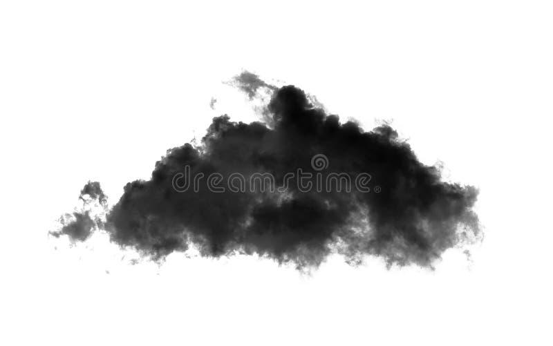 Black cloud on white stock photo