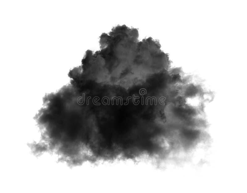 Black clouds on black background stock images
