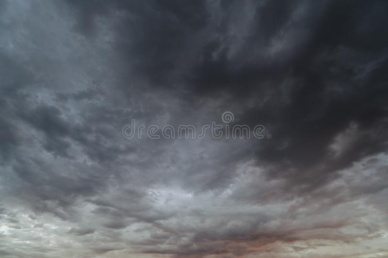 Black clouds before raining stock image