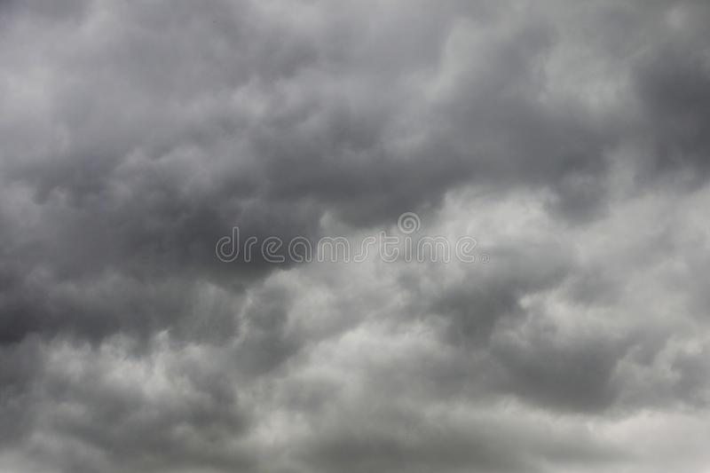 Black clouds with thunder storm on the sky before rain. Ing royalty free stock images
