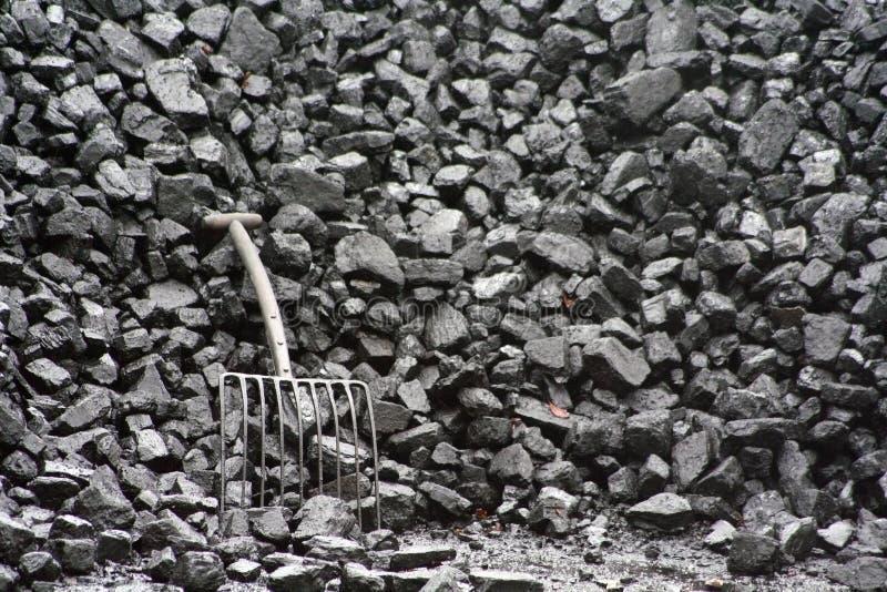 Black coal. royalty free stock image