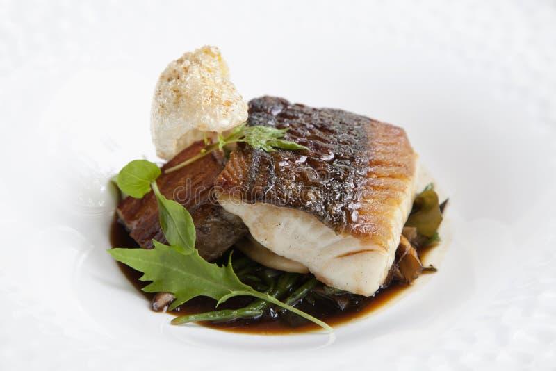 Cod fish dinner royalty free stock photo