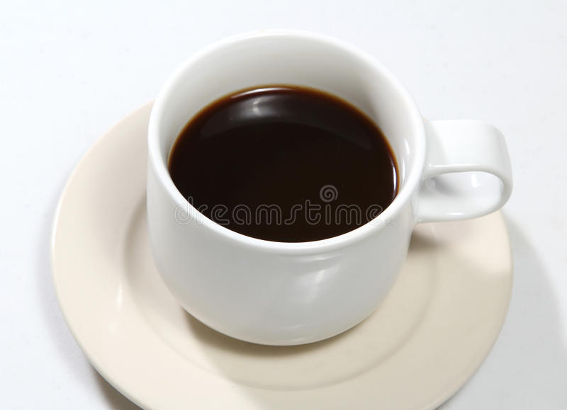 Download Black coffee stock image. Image of white, tasty, background - 28115207