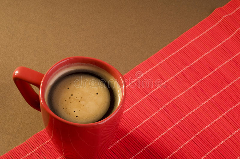 Black Coffee Drink In A Red Cup Stock Image - Image of gourmet, colored: 12485173