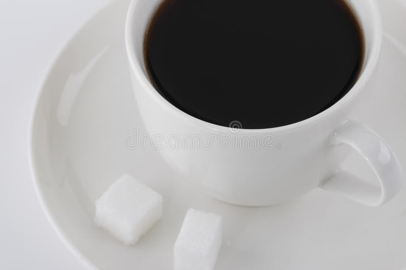Download Black coffee and sugar stock image. Image of drink, black - 25366701