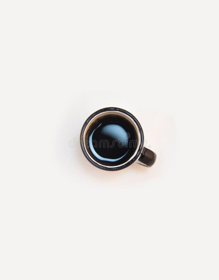 Black Coffee on Black White Ceramic Cup royalty free stock photo