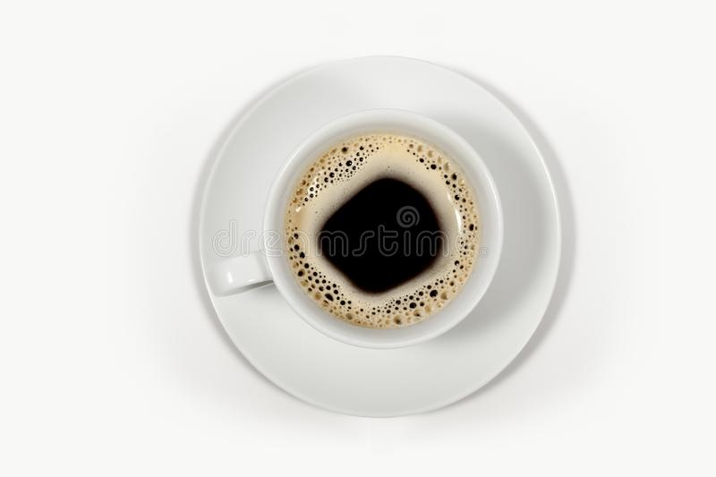 Download Black Coffee In A White Cup Stock Image - Image: 8417187