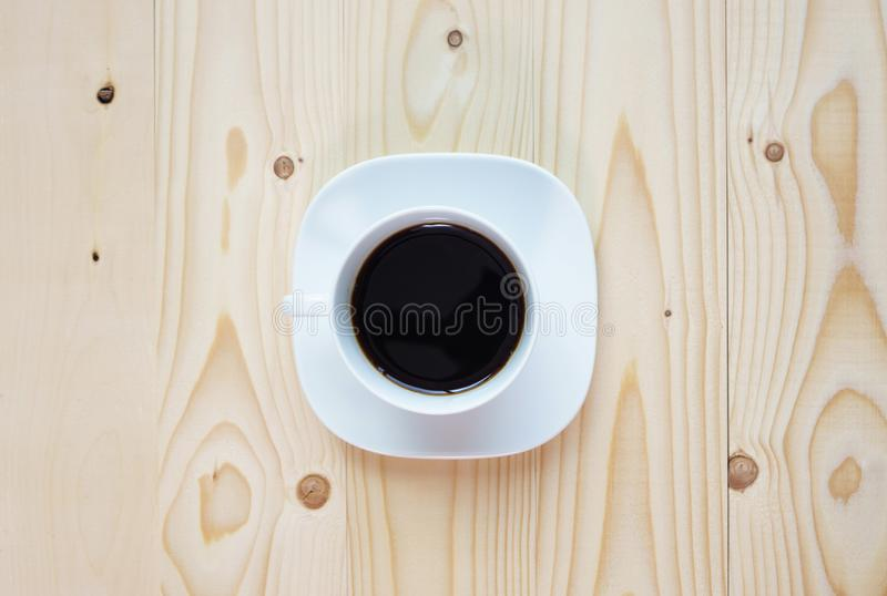 Black Coffee on the wood royalty free stock photo
