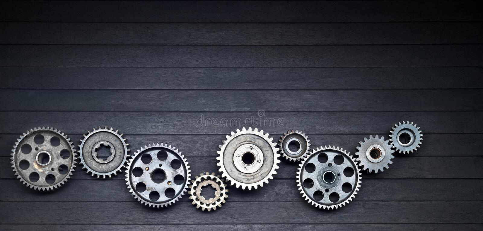 Gears Cogs Technology Industry Background Banner stock photos