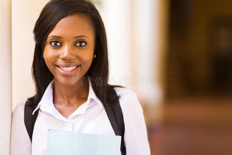 Black college girl royalty free stock image