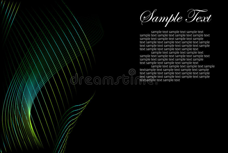 Black and color abstract background vector illustration