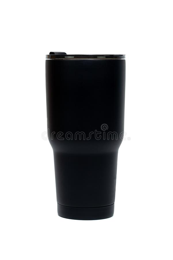 Free Black Colour Stainless Steel Tumbler Or Cold And Hot Storage Cup Isolated On White Background Royalty Free Stock Photo - 161821985