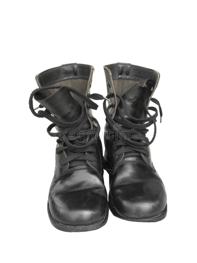 black combat boot royalty free stock photos