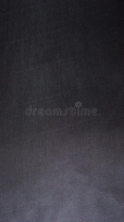 Black Compound Cloth Fabric Flat Texture Detail stock image