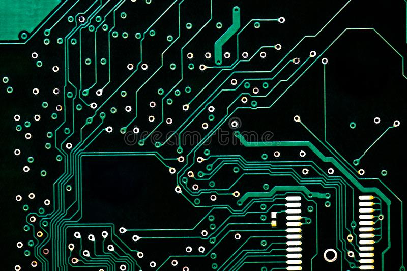 Black computer circuit board pattern. background texture for design. electronic equipment industry. repair electronics. future tec royalty free stock photography