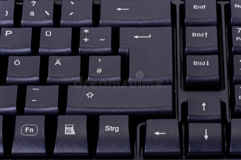 Download Black computer keyboard stock photo. Image of button - 26255772