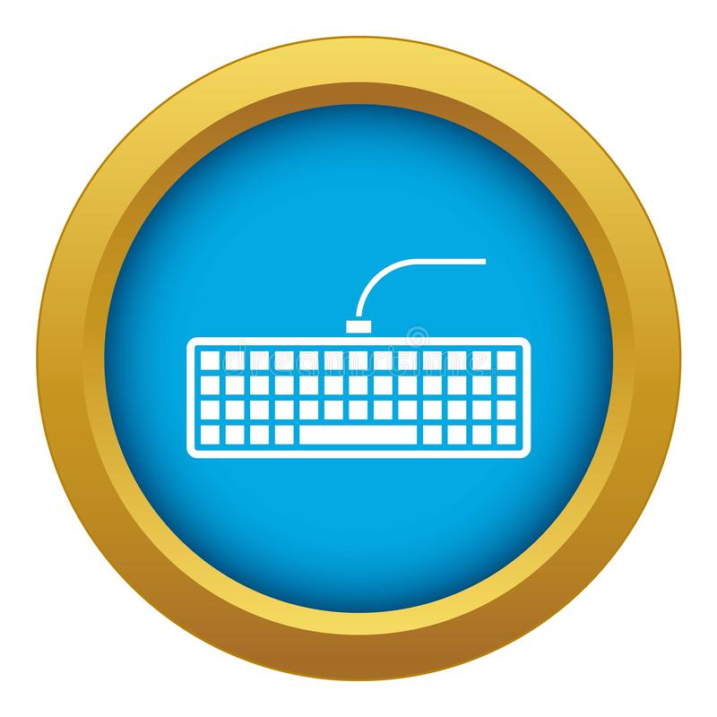 Black computer keyboard icon blue vector isolated vector illustration