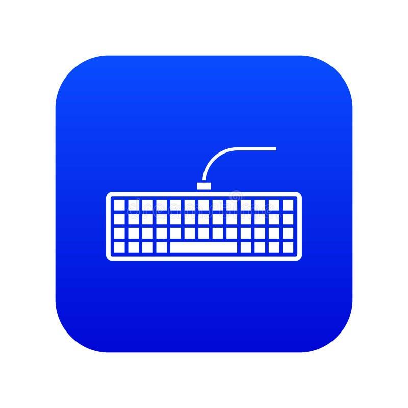 Black computer keyboard icon digital blue stock illustration
