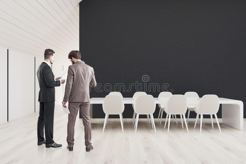 Black Conference Room In The Attic Men Stock Photo Image Of - Black conference room table