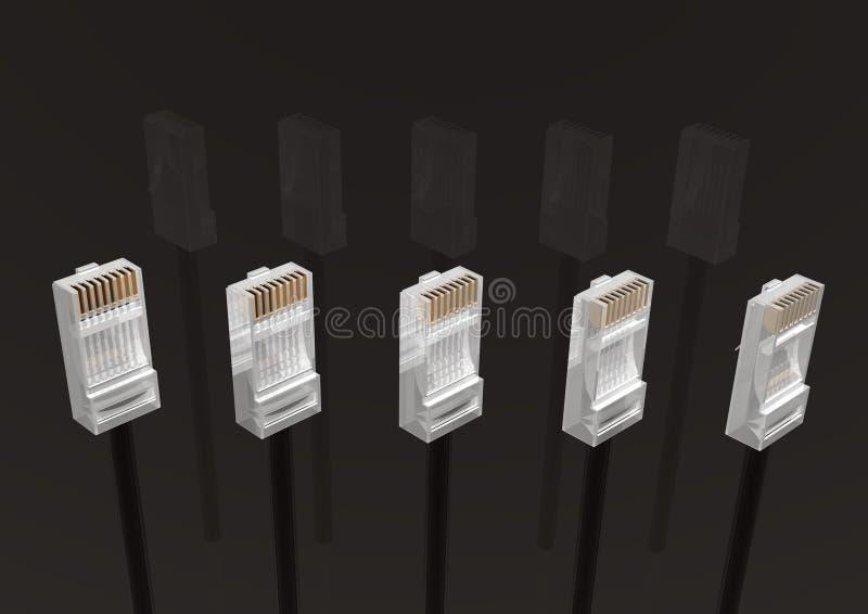 Black Connectors Stock Photos