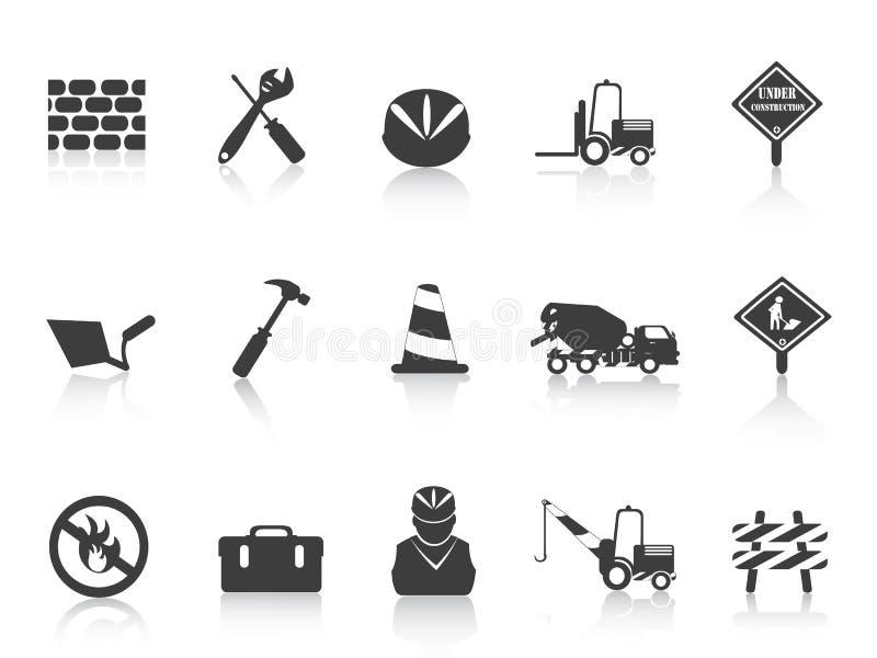 Download Black Construction icon stock vector. Image of bulldozer - 22272675