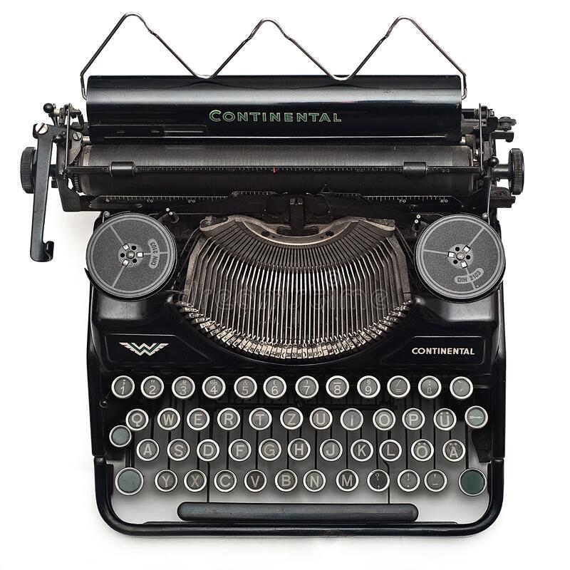 Black Continental Typewriter On White Surface Free Public Domain Cc0 Image