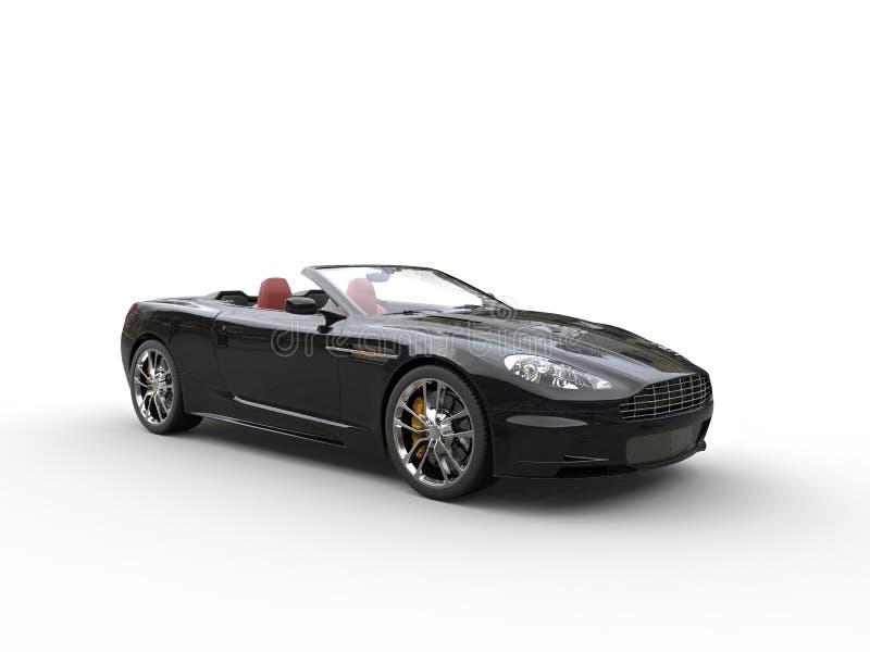 Download Black Convertible Sports Car - Studio Shot Stock Photo - Image of power, auto: 68689930