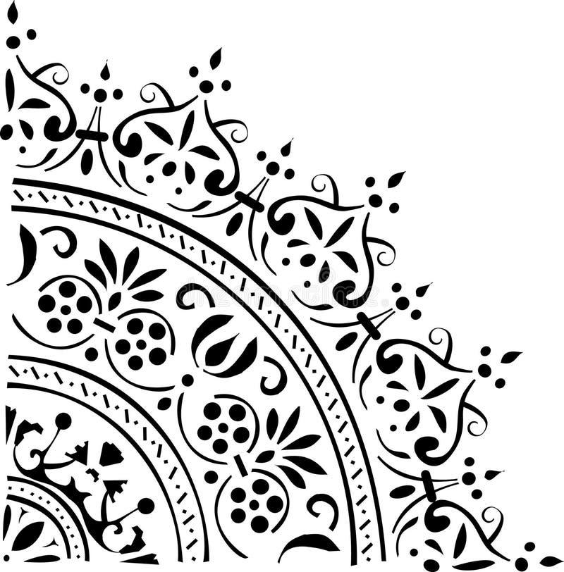 Black corner decoration royalty free illustration
