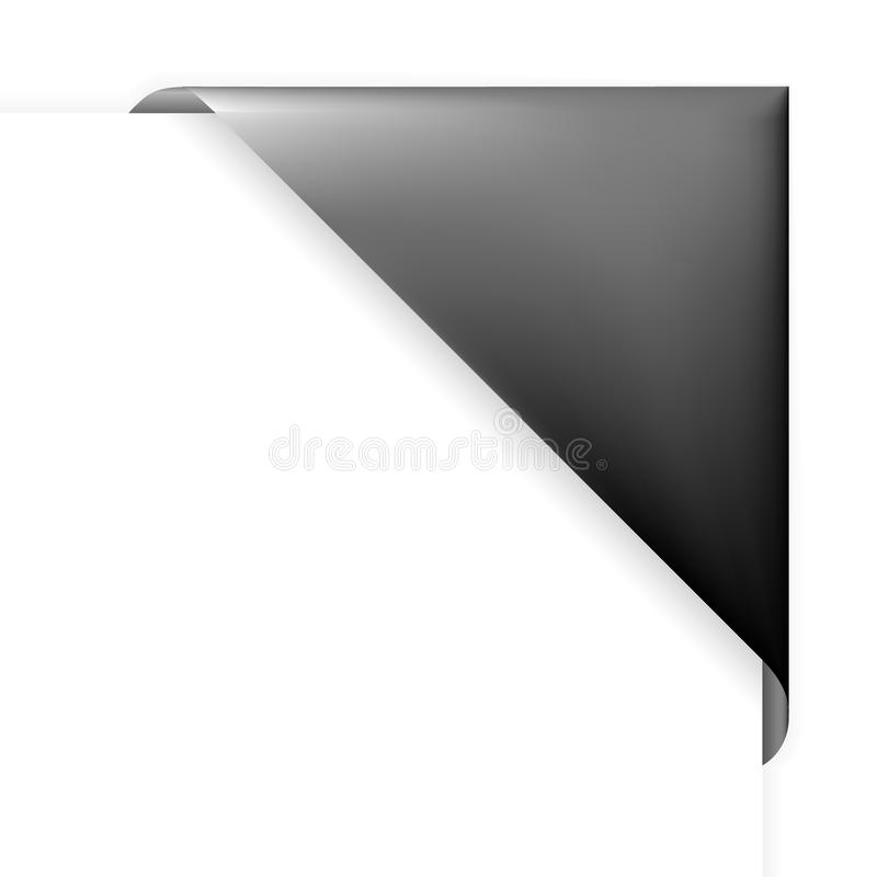 Black corner holder. For photos, or tag for items in eshop royalty free illustration