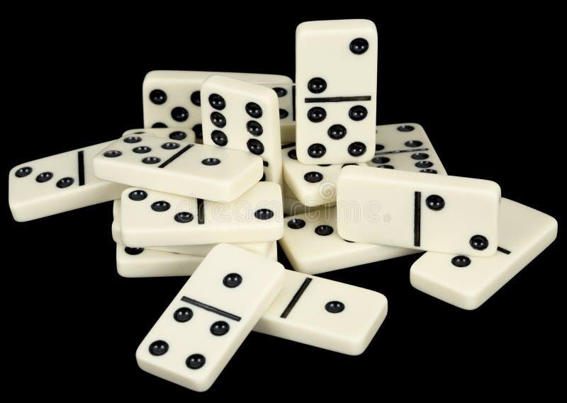 black counters den små dominogruppen royaltyfria foton