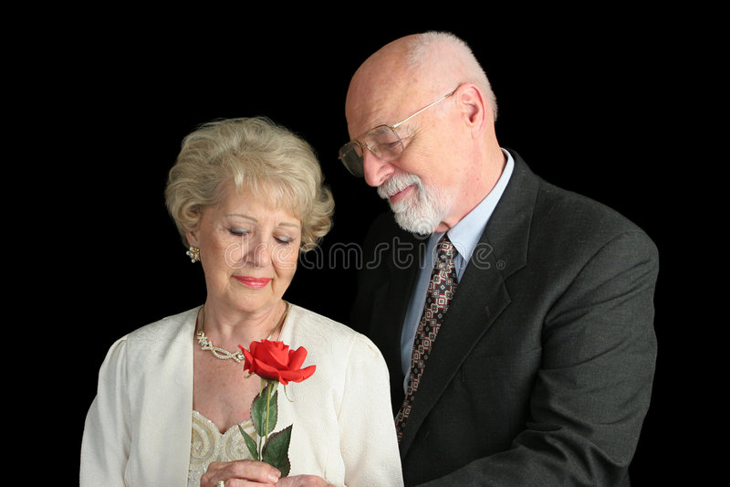 Black Couple Gesture Romantic Senior Στοκ Εικόνες