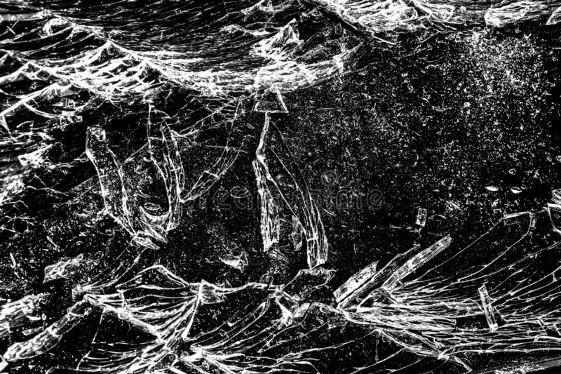 Black cracked Touch Screen Phone display background. Texture for your project. Broken black glass abstract background.  royalty free stock photo