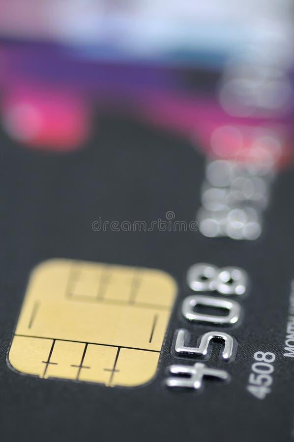Black credit card closeup royalty free stock photography