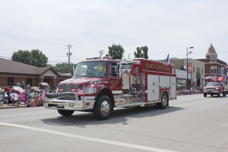 Black Creek Rural Fire Department Truck stock photo