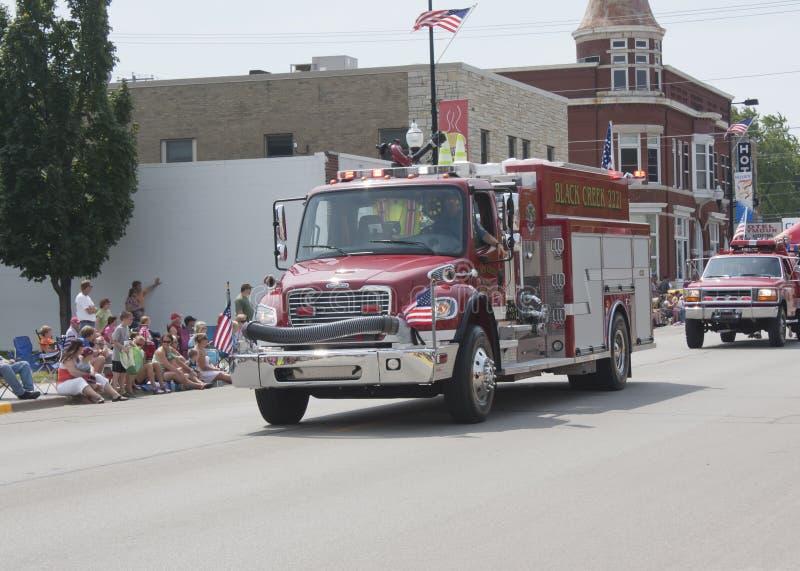Black Creek Rural Fire Department Truck Front View stock photos