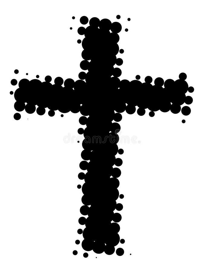 Black cross – retro. On white background vector illustration