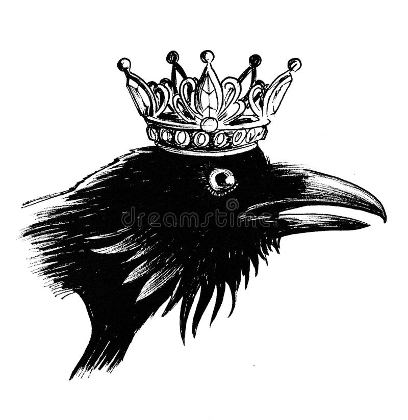 Crow queen vector illustration