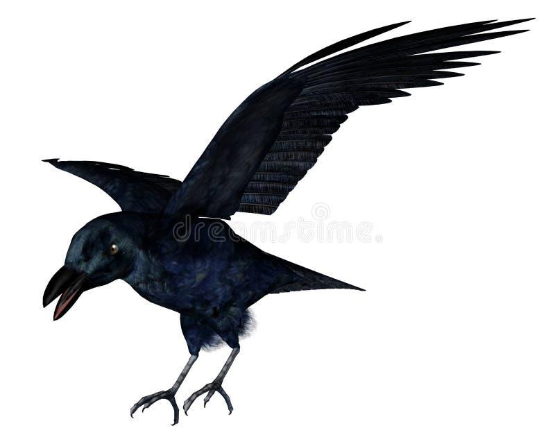 Black crow - 3D render vector illustration