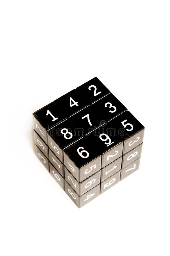 Download Black cube with numbers editorial stock image. Image of cutout - 10022044