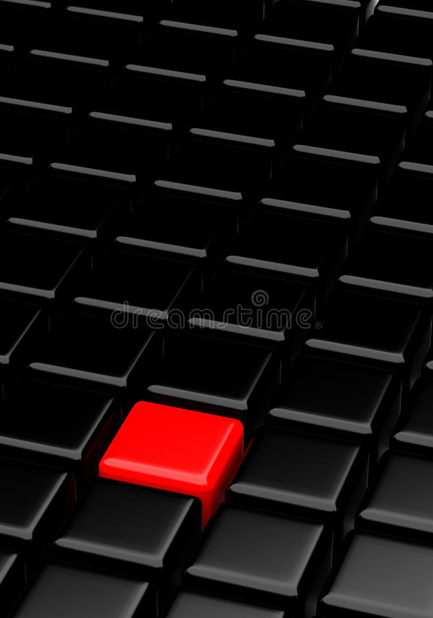 Black Cubes and Red royalty free stock photos
