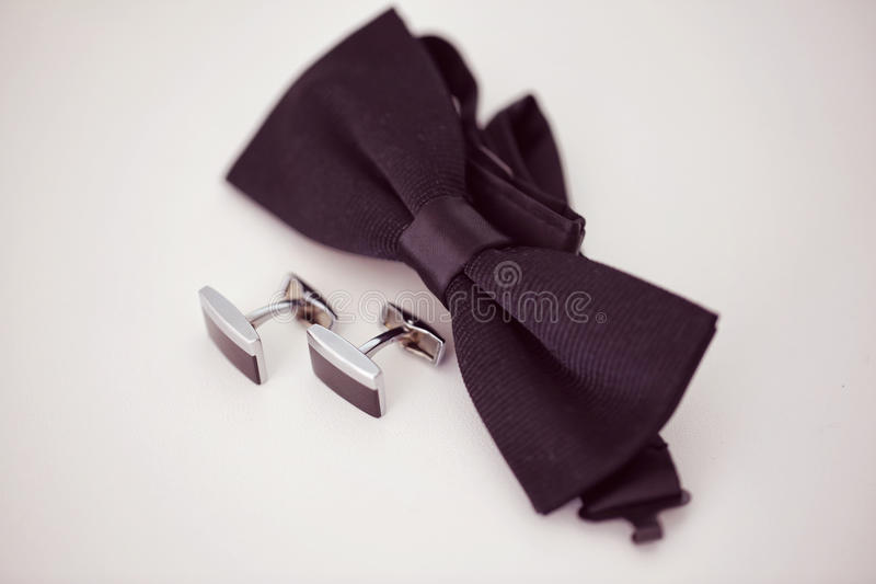 Black cuff links. Capture of Black cuff links royalty free stock photo